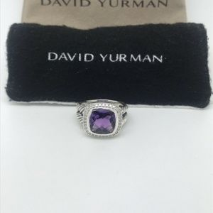 David Yurman Albion Ring with Amethyst & Diamond